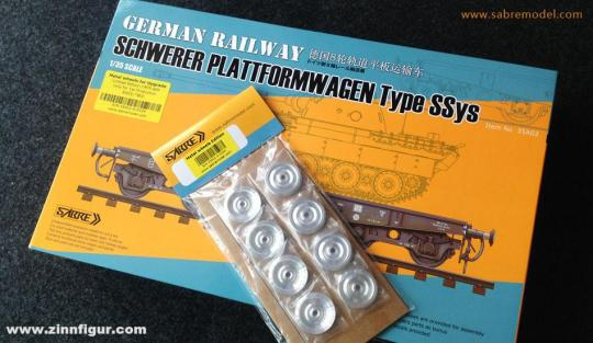 Schwerer Plattformwagen SSys mit Metallrädern