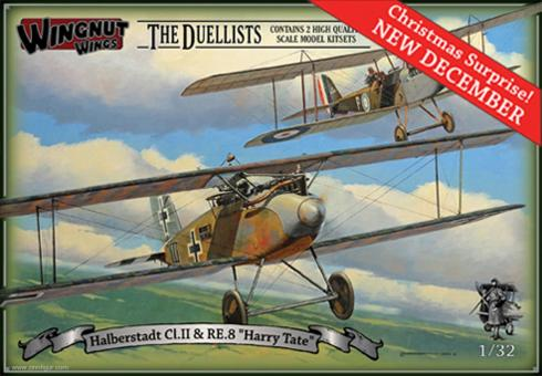 """Halberstadt Cl.II & RE.8 """"Harry Tate"""" - The Duellists"""