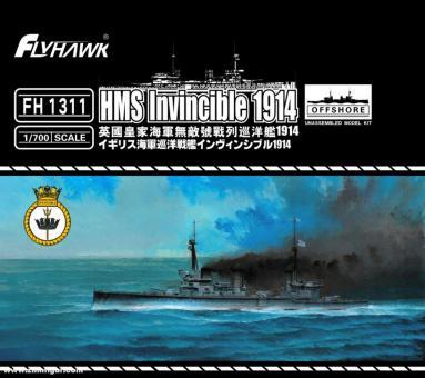 Schlachtkreuzer HMS Invincible 1914