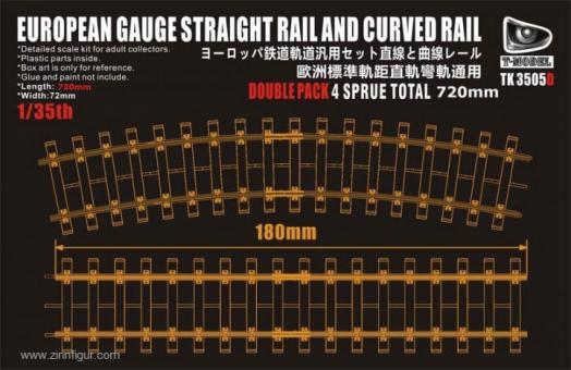 Gerades & Gebogenes Gleis Europäische Spurweite - 720 mm