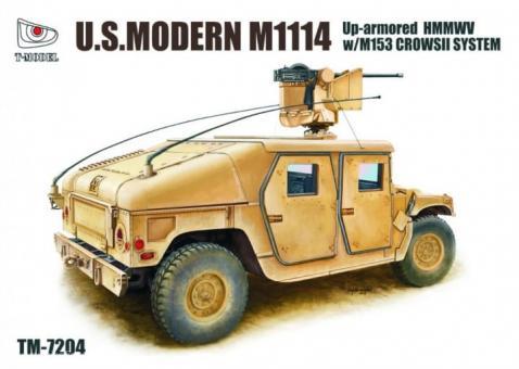 M1114 mit Zusatzpanzerung und M153 Crows II System