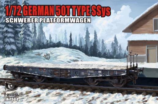 50 Tonnen Typ SSyS Schwerer Plattformwagen