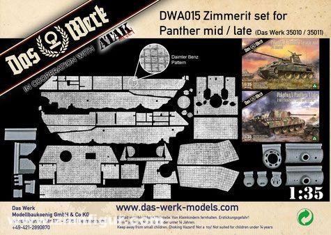 Zimmerit Set für Panther mittel/spät (DB Muster)