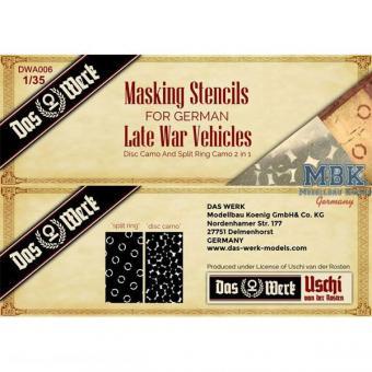 German Late War Masking Stencils