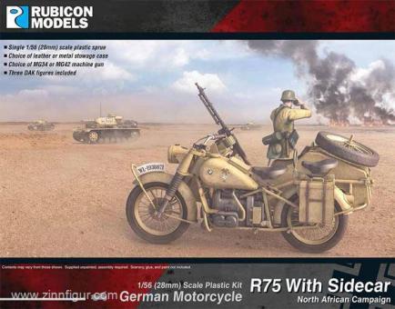 Motorrad R75 mit Beiwagen - Afrika Korps