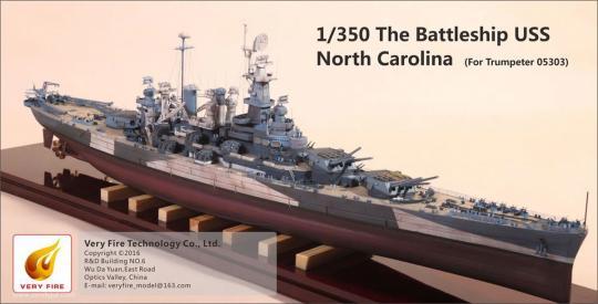 USS North Carolina Detailset