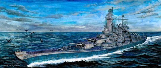Schlachtschiff USS Louisiana BB-71