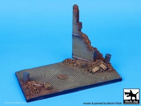 Gepflasterte Straße - Diorama Base