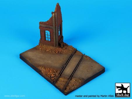 Bahnübergang mit Ruine - Diorama Base