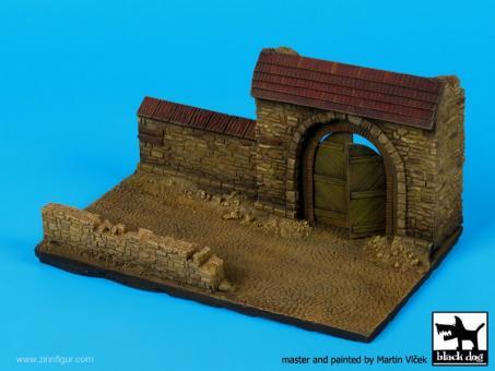Mauer mit Tor - Diorama Base