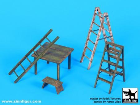 Leitern und Tisch