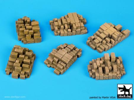 Hafen Zubehör Set 1: gestapelte Kisten