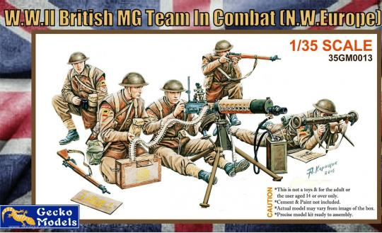 WWII British MG Team in Combat (NW Europe)