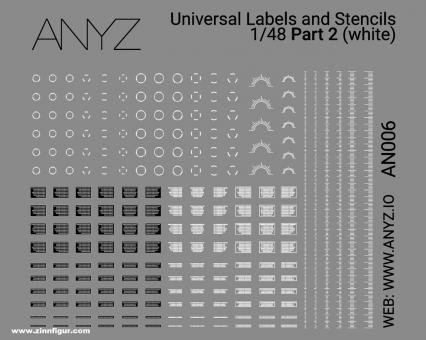 Universal Labels & Stencils (1:48) - Weiß - Teil 2
