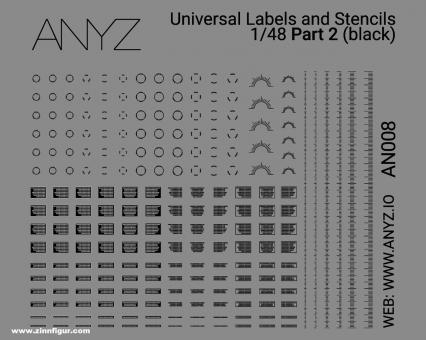 Universal Labels & Stencils (1:48) - Schwarz - Teil 2