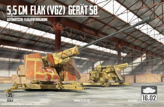 5,5cm FlaK (VG2) Gerät 58 Automatische Flugabwehrkanone