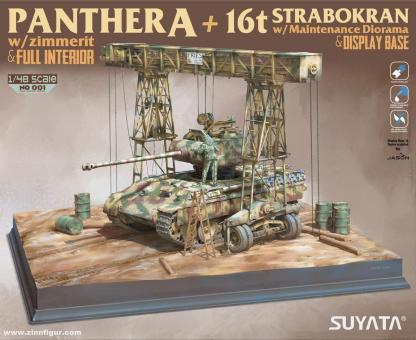 Panther A mit 16 t Strabokran Diorama