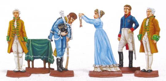 Ordensverleihung durch Königin Luise an den Husaren-Lieutenant Hellwig, Preußen 1807