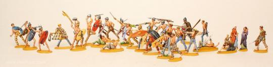 Gallische Krieger zu Fuß