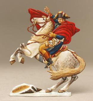Napoleon Bonaparte zu Pferd, bei der Überquerung der Alpen (um 1800)
