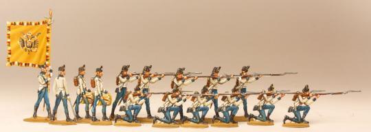 Regiment Szatary schießend, 1789