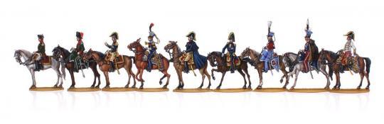 Schlacht von Waterloo, Napoleon und sein Generalstab zu Pferd 1804-13