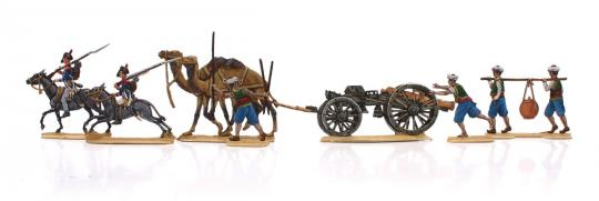 Demi Brigade auf Eseln und Dromedare