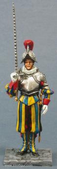 Schweizergarde Sergeant mit Schwert rechts