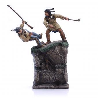 Zwei Indianer im Kampf
