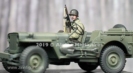US Soldat Jeep-Beifahrer