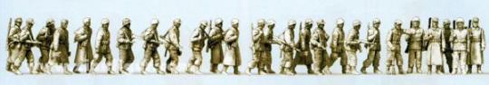 Infanterie in Winteruniform, marschierend