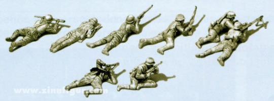 Infanterie im Gefecht, liegend