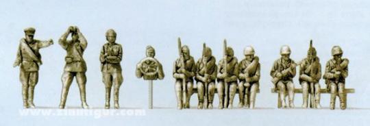 Infanteristen, aufgesessen