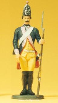 Grenadier, stehend, Gewehr ab