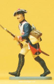 Musketier, stürmend