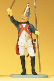 Grenadier-Unteroffizier, Stock erhoben