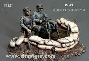 MG 08 with Crew on Fire Point