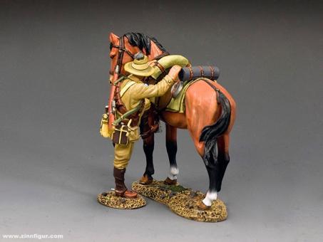 Lighthorse Soldat- aufsitzend - braunes Pferd