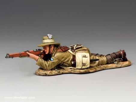 Lighthorse Sodlier, Lying Firing with Rifle & Bayonet