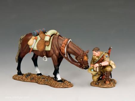 Light Horse Soldat mit seinem Pferd