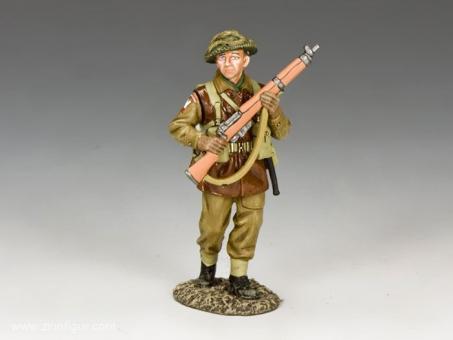 Vorgehender Infanterist