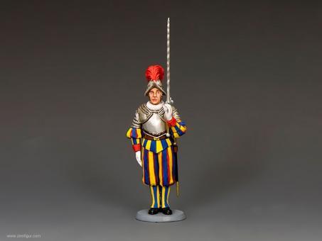 Gardist mit Zweihänder - Schweizer Garde