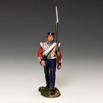 Britsh Infantryman Marching to the Front