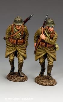 Französische Soldaten auf dem Rückzug