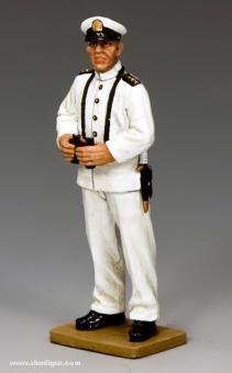 Japanischer Marine-Offizier auf Wache