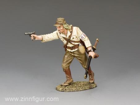 Angreifender Japanischer Offizier