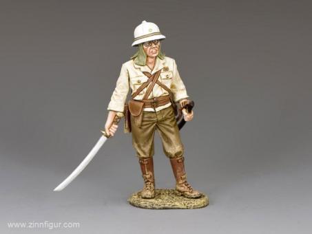 Japanischer Offizier mit gezogenem Schwert