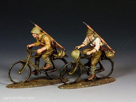 Japanische Soldaten - Fahrrad fahrend