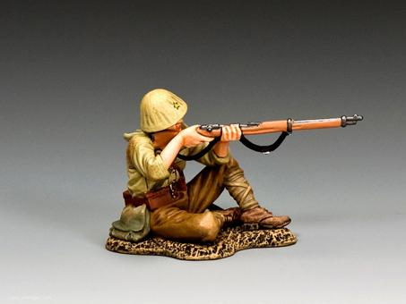 Soldat - sitzend, feuernd