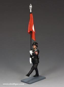 Flagbearer Goose-Stepping